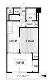 トリムパークマンション6階Fの間取り画像