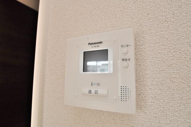 エクレール上小阪 モニター付きインターフォンでセキュリティ対策もバッチリ。