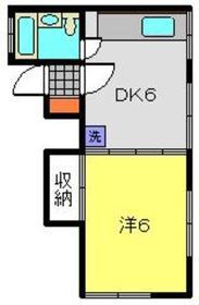 コーポワタナベ1階Fの間取り画像