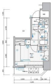 シーネクス横濱阪東橋9階Fの間取り画像