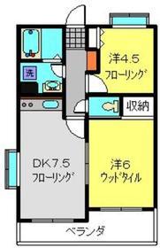 フェリックス新川崎4階Fの間取り画像