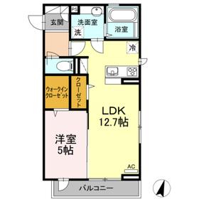 (仮)D-Room上溝3階Fの間取り画像
