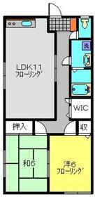 久保田ハイツ2階Fの間取り画像