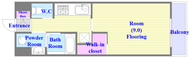 エイチ・ツーオー布施 新築物件。人気のセパレート・広めの間取です。