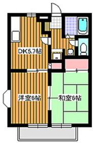 地下鉄成増駅 徒歩16分2階Fの間取り画像