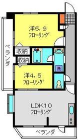 エルミタージュ横浜ベイ3階Fの間取り画像