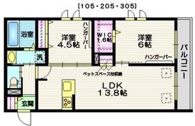 (仮称)世田谷区・給田5丁目メゾン3階Fの間取り画像