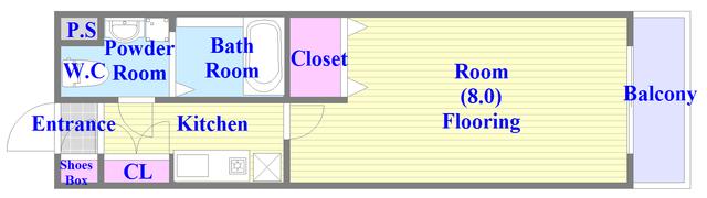 セゾンクレアスタイル新今里 広いびろ空間を実感できる間取りになっております。