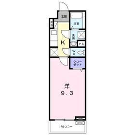 豊田駅 徒歩21分3階Fの間取り画像