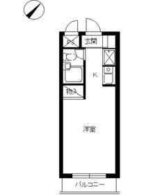 スカイコート日吉21階Fの間取り画像