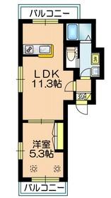 マール ソレイユ2階Fの間取り画像