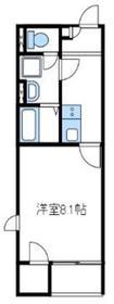レオネクスト子中サイド2階Fの間取り画像