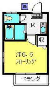 SNハイツ B棟2階Fの間取り画像