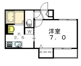 アビテ太子堂2階Fの間取り画像