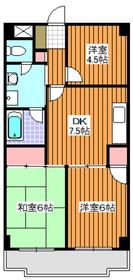 成増駅 徒歩12分3階Fの間取り画像