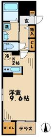 オークヴィラ4階Fの間取り画像