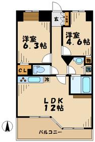 ラナイガーデン新百合WEST9階Fの間取り画像