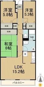 パール呉竹3階Fの間取り画像