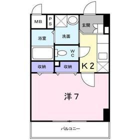 新川崎駅 徒歩20分4階Fの間取り画像