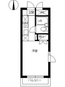 スカイコート東武練馬2階Fの間取り画像