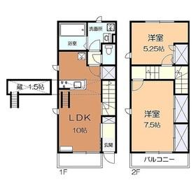 サンモール羽沢D1-2階Fの間取り画像