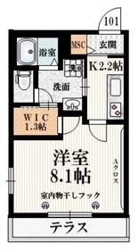 和泉多摩川駅 徒歩25分1階Fの間取り画像