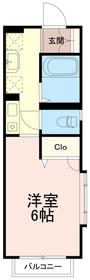 カサヴェールフォー(カサヴェール4)2階Fの間取り画像