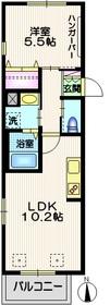 マノワール スリジエ2階Fの間取り画像