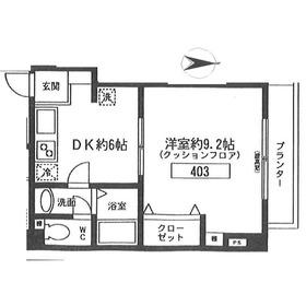 エム4階Fの間取り画像