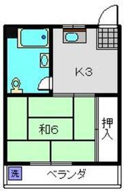 第一関口ハイム4階Fの間取り画像