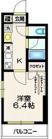 ナビウス新宿七丁目6階Fの間取り画像