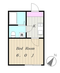FERIO NAKATSU2階Fの間取り画像
