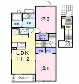 メゾン ド フルール2階Fの間取り画像