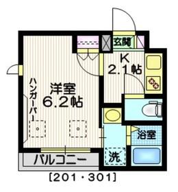 Ts Junasu3階Fの間取り画像