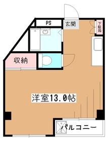 野口ビル3階Fの間取り画像