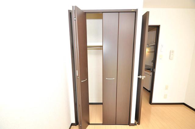 ハートハイム もちろん収納スペースも確保。お部屋がスッキリ片付きますね。