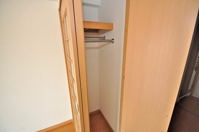 ロータリーマンション長田東 もちろん収納スペースも確保。おかげでお部屋の中がスッキリ。