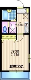 六本木駅 徒歩5分1階Fの間取り画像