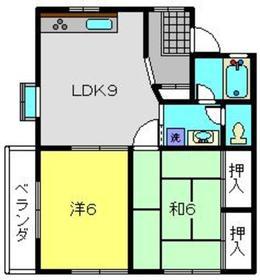 エクセルオカザワ+Ⅲ2階Fの間取り画像