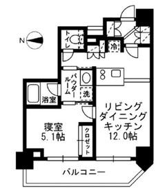 レジディア文京湯島III9階Fの間取り画像