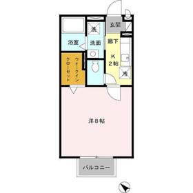 グリーンハウスC1階Fの間取り画像