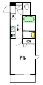 ゼファー田中3階Fの間取り画像