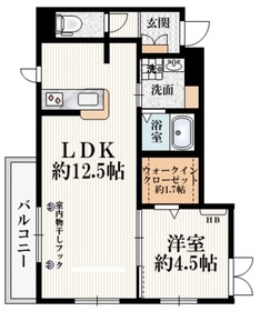 Silk Residence S2階Fの間取り画像