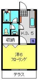 第5みどりハイツ1階Fの間取り画像
