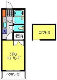 ハピネス6412階Fの間取り画像