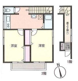 シオタハイツ2階Fの間取り画像