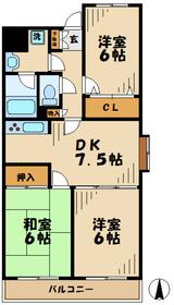 コモドアパルタ3階Fの間取り画像