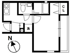 ルクール川崎1階Fの間取り画像
