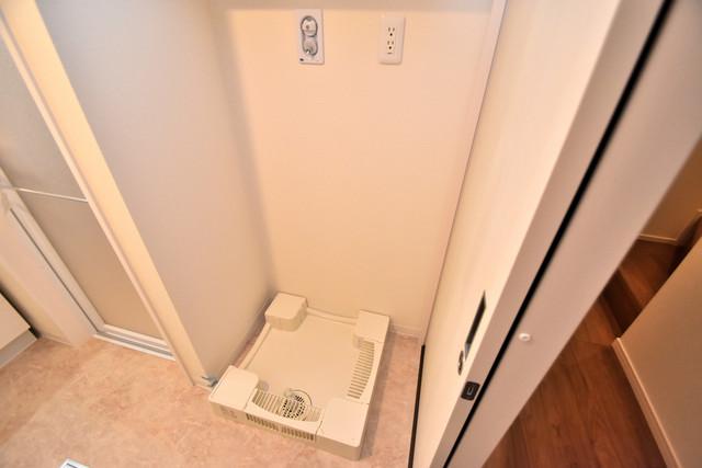ハイツ ニッサク  嬉しい室内洗濯機置場は脱衣場も兼ねています。