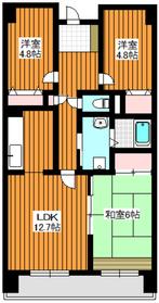 ハビテーション・1瀧之上3階Fの間取り画像